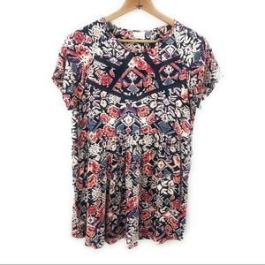 Anthropologie Pins and Needles Tunic Blouse, S